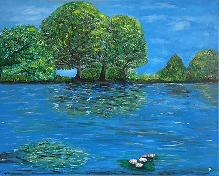 Summer by the lake - unframed - Felicia