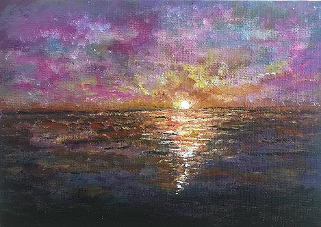 Ocean Sunset Rays - Felicia Nattress