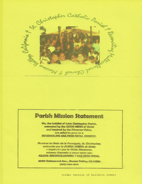 (older version of bulletin cover)
