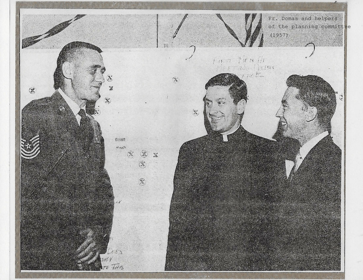 Fr. Domas and helpers of the planning committee (1957)