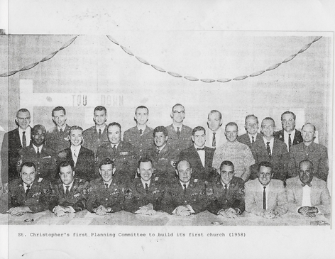 St. Christopher's first Planning Committee to build its first church (1958)