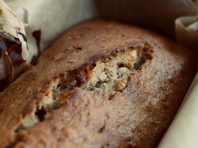 """Pan tipo """"loaf"""" de banana y canela"""