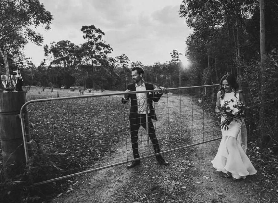 Bridal Couple at gate
