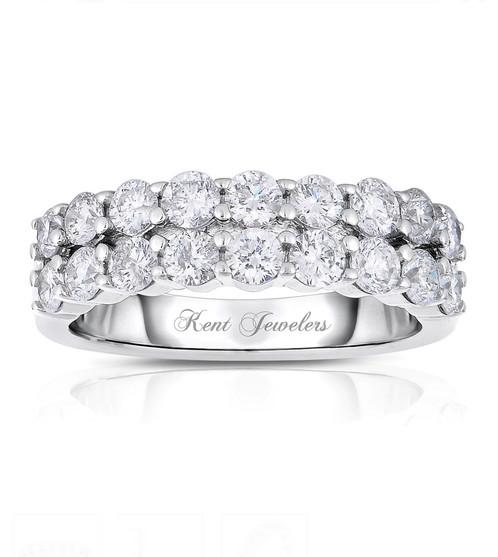 14k white gold double row wedding band diamond engagement rings 14k white gold double row wedding band junglespirit Images