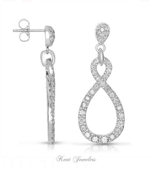 14k white gold teardrop earrings diamond engagement rings s