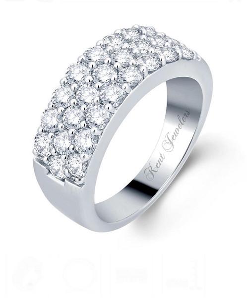 14k white gold diamond wedding band diamond engagement rings s kent jewelers - White Gold Diamond Wedding Rings