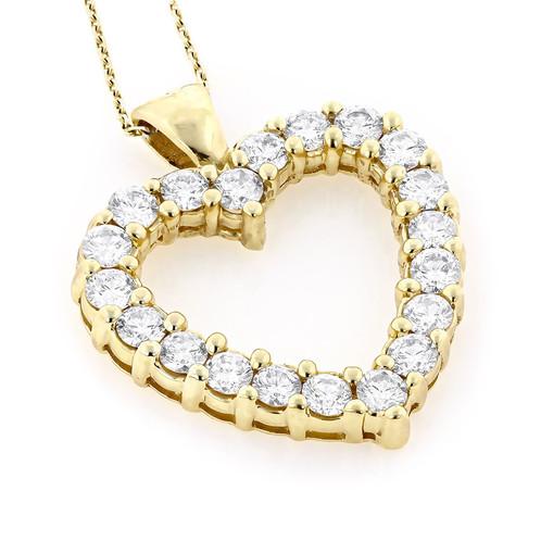 14k yellow gold diamond heart pendant diamond engagement rings s 14k yellow gold diamond heart pendant aloadofball Gallery