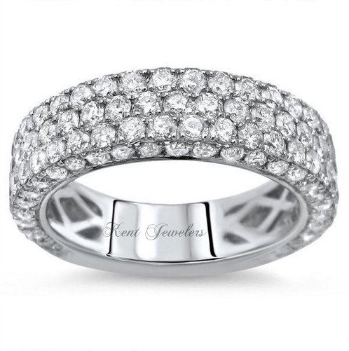 14k white gold diamond wedding band - White Gold Diamond Wedding Rings
