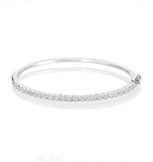 bracelet jewelco white london bangle diamonds eternity ladies ebay itm gold diamond bangles