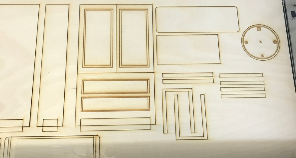 Laser cutting the furniture