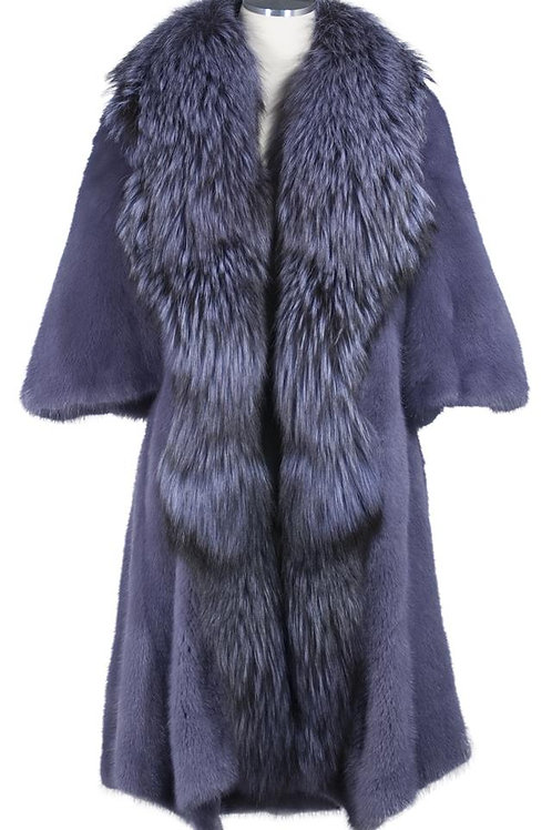 Female mink stroller with fox collar