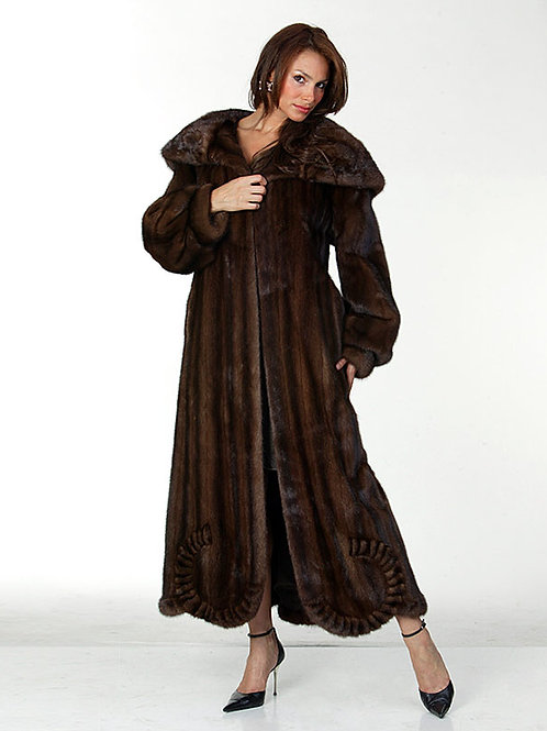 Mink Coat with Ruffles