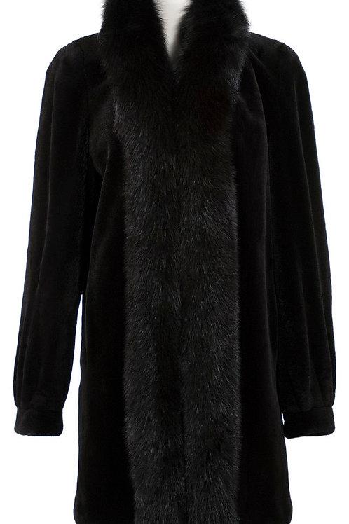 Sheard mink jacket with fox