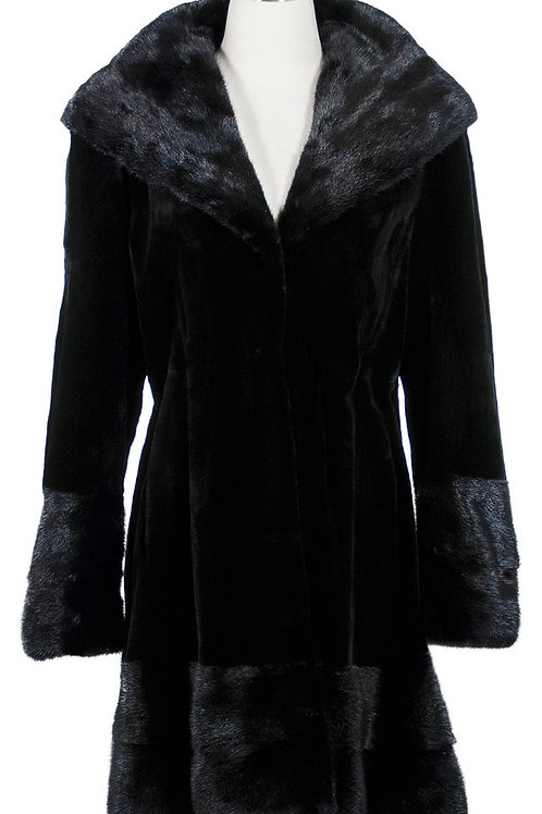 Sheard mink jacket with regular mink