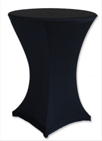 Poseur Table with black cloth