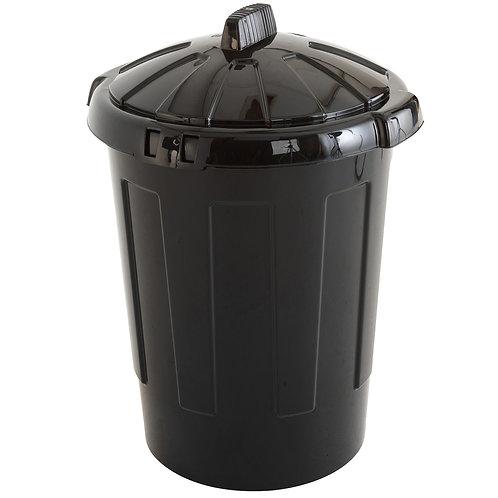Black Waste Bin