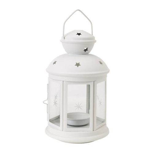 White Tea Light Lantern