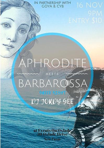 Aphrodite meets Barbarossa Club Night we