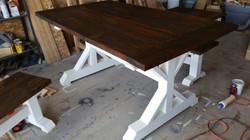 x leg table