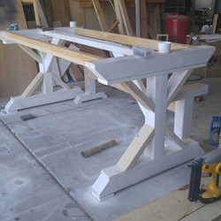 x leg dining table base