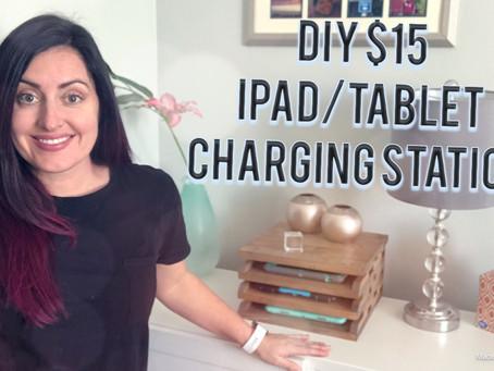 DIY $15 Tablet Charging Station