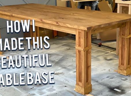 The Natasha MODERN FARMHOUSE TABLE build with PLANS!