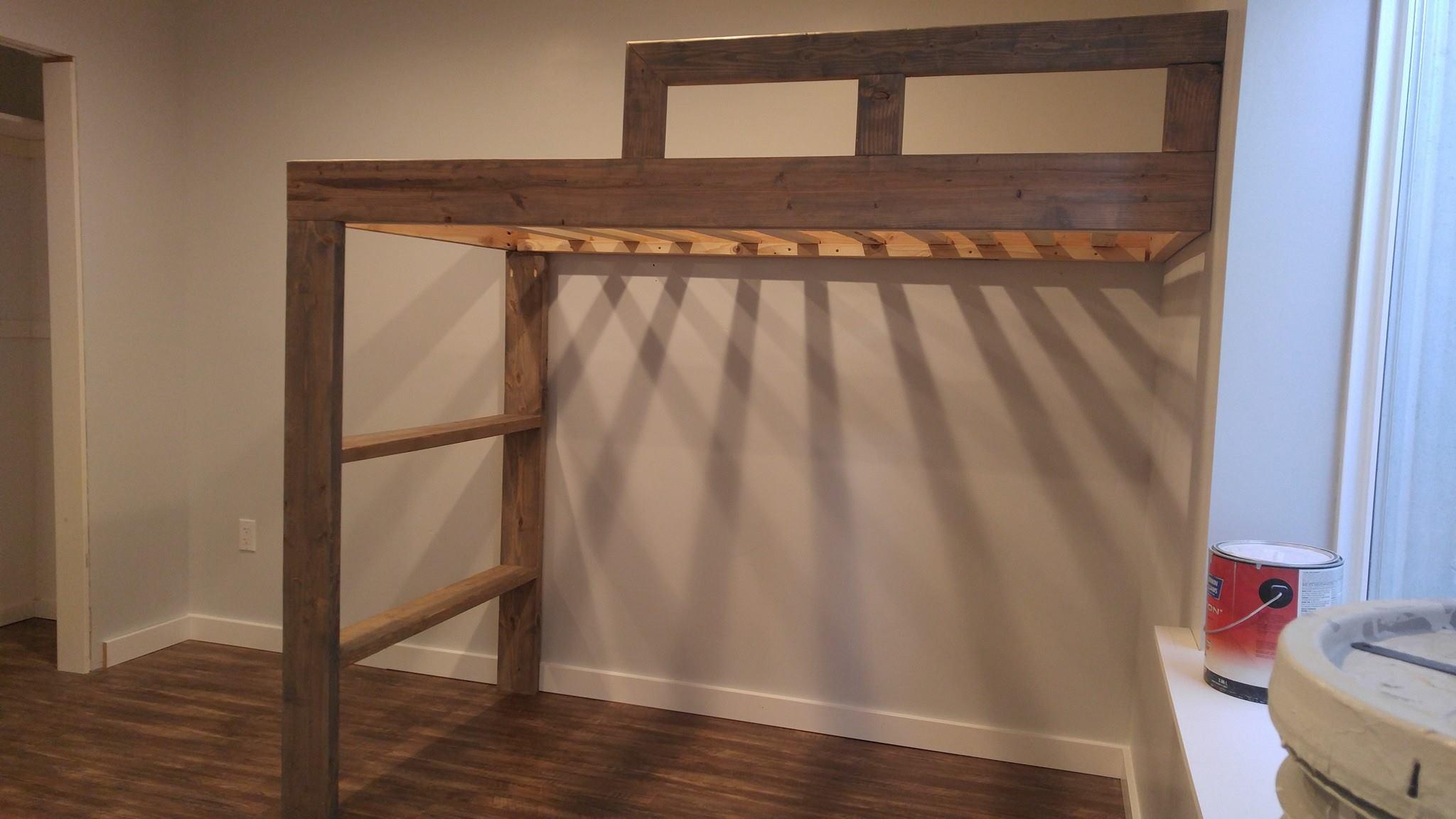 built farmhouse loft bed