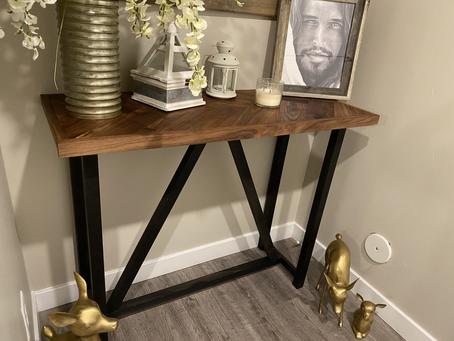Easy Modern Walnut Entry Table