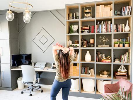 How I Made Built In Bookshelves