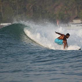 Derik Broadnax surfing