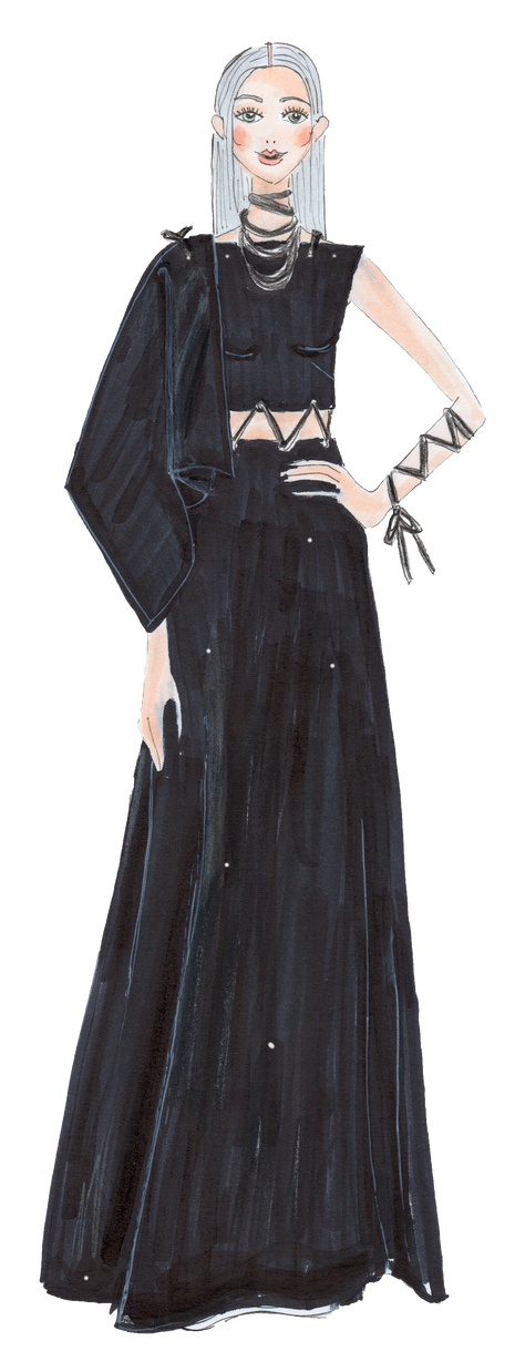 Fashion Illustration Croqui