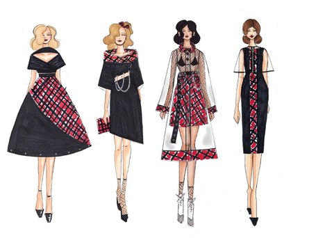Goodness Gracious! Collection Design Sketches by Nicole Candeloro
