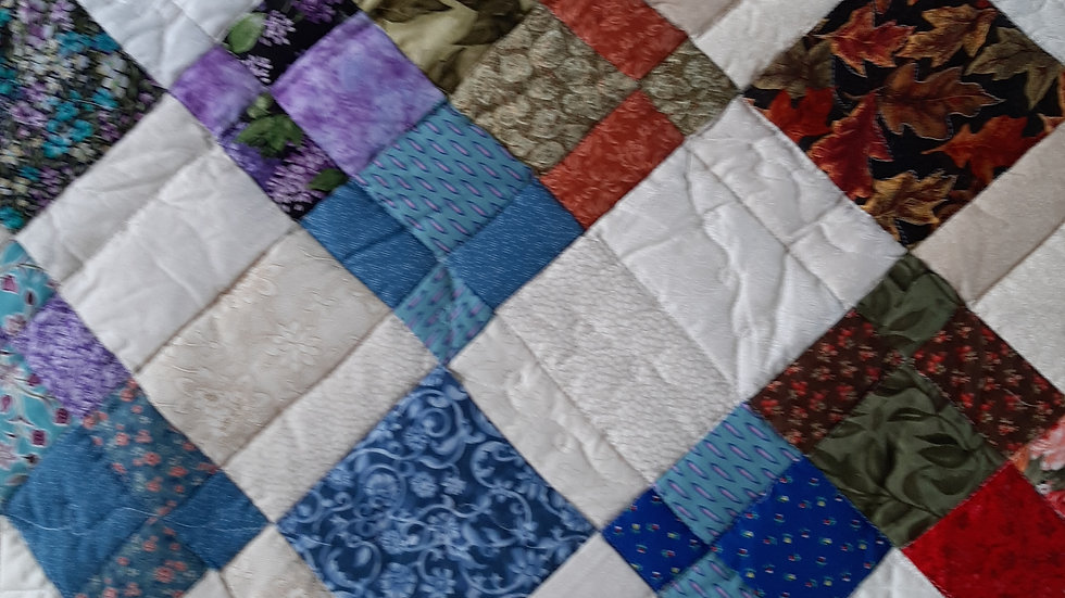 Four Square Green Quilt