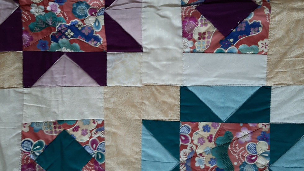 Purple Teal Star Quilt