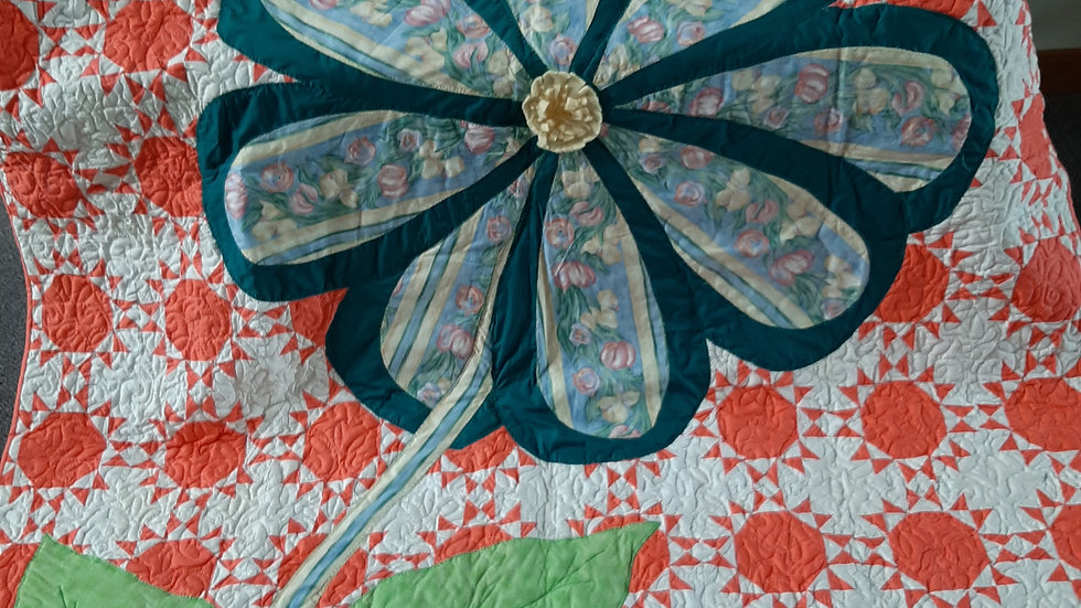 Coral Flower Quilt