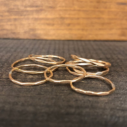 Yellow Gold Hammered Ring