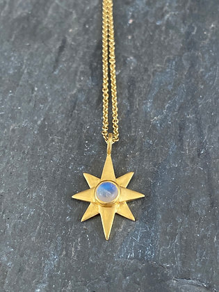 Moonstone North Star Necklace