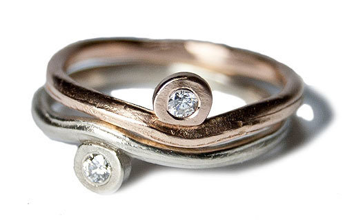 Diamond Nesting Rings
