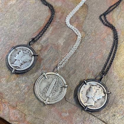 Mercury Coin Necklace