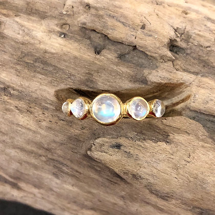 5 Moonstone Ring