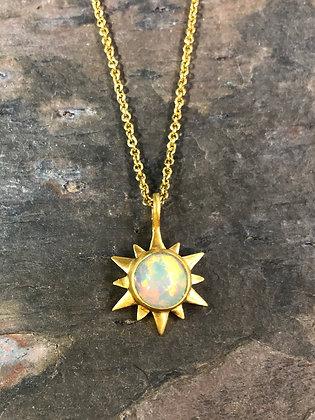 Opal Sun Necklace