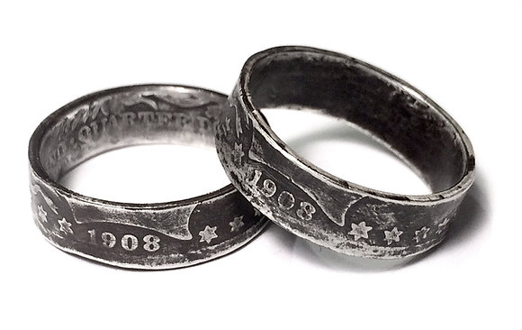 Quarter Coin Ring