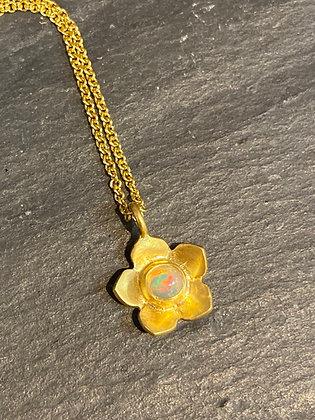 Flower Opal Necklace