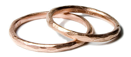 Faceted Slim Band