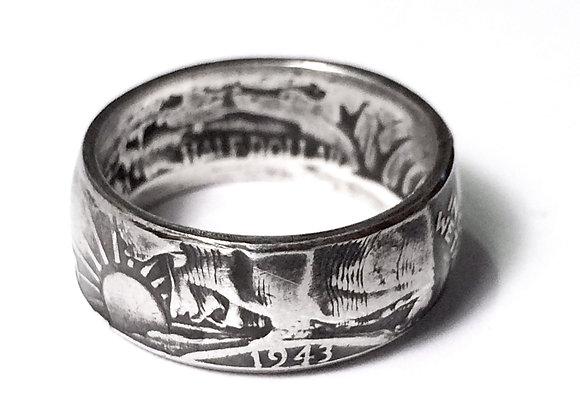 Walking Liberty Coin Ring