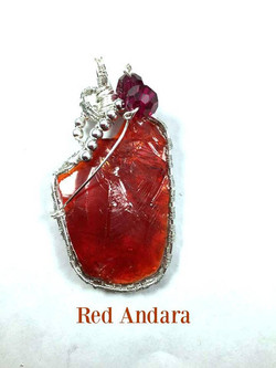 Red Andara Pendant