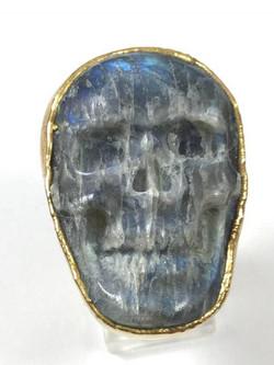 Labradorite Skull Ring