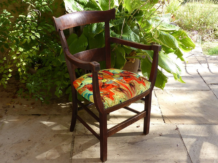 Antique Oak Farmhouse Chair