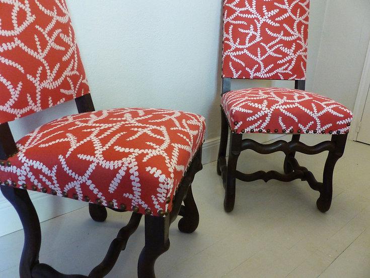 Ensemble de 6 chaises 19ème siècle style Louis XIV - vendu