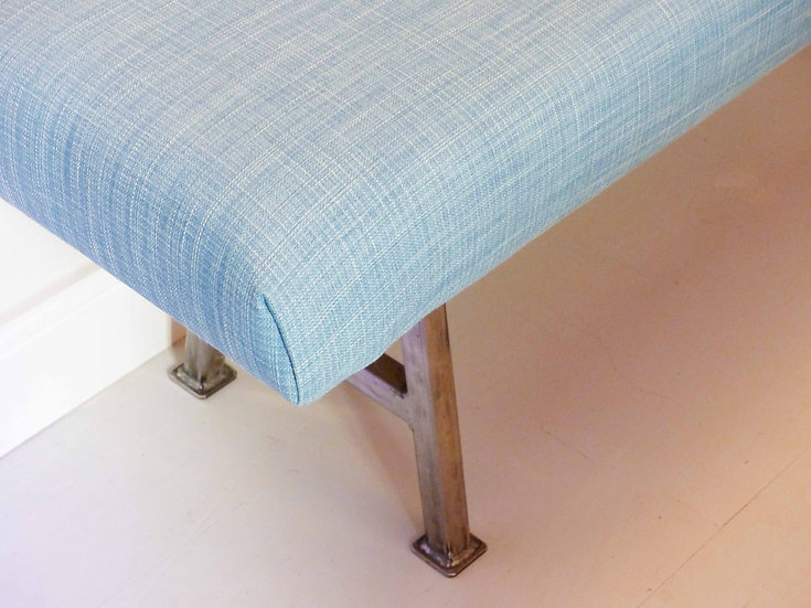 Upholstered Bench with steel legs